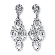chandelier earings chandelier earrings white crystals sterling silver
