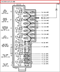 1996 jeep grand cherokee fuse panel wiring diagram and schematic