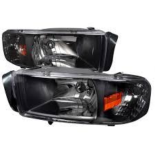 Dodge Ram 94 - 94 01 dodge ram 1500 2500 3500 black 1pc crystal headlights