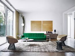 interieur et canapé canape vert design knoll deco intérieur meubles