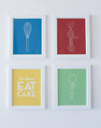 cool ideas for kitchen wall art decoration using light blue