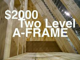 small a frame cabins frame a frame house plans small