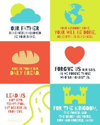 the lord u0027s prayer poster for kids free printable lord and child