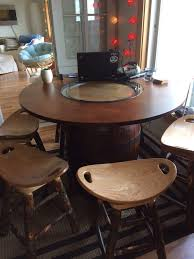 Potato Chip Chair Hand Crafted Amish Furniture Jack Daniels Barrel Table And