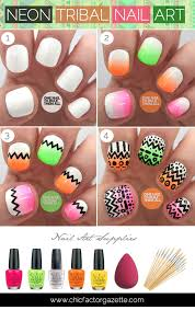 diy tribal nail art tutorial aztec nailart neon tribal nail art
