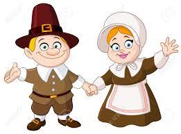thanksgiving day pilgrim royalty free cliparts vectors