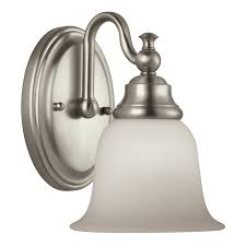 shop portfolio brandy chase 1 light 9 45 in brushed nickel vanity