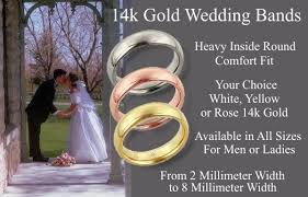 comfort wedding band gemday 14k gold comfort fit wedding bands from gem of the day