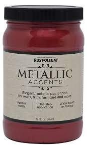 Water Based Interior Paint Rust Oleum Metallic Accents 253607 Decorative 32 Ounce Quart Water