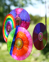 Designs Of Wall Hanging With C D Colourful Cd Sun Catchers Play Cbc Parents