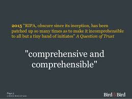 Be Like Bill The Comprehensible - draft investigatory powers bill legal view