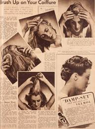 hair styles and products of 1939 the war time woman