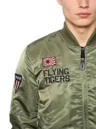 lyst alpha industries ma 1 vf flying tigers slim bomber jacket