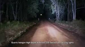 Led Light Bar Driving Lights by Xray Vision 220 Series Led Driving Lights Demo Video Youtube
