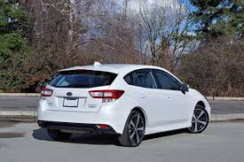 subaru hatchback 2 door 2017 subaru impreza sport tech 5 door road test carcostcanada