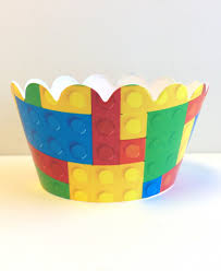 halloween cupcake liners building blocks cupcake wrappers 24ct personalized party invites