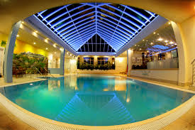 painted houses epic indoor pool design idea with rectangular shape and brown