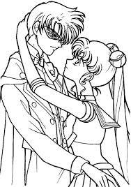 sailor moon tuxedo mask love coloring sailor moon