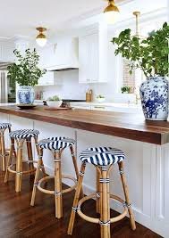 Navy Bistro Chairs Blue And White Chinoiserie Chic Timeless Kitchen Bistro