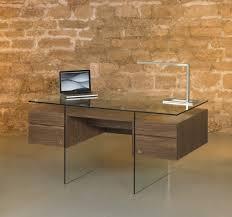 bureau verre trempé bureau sur pieds en verre trempé photo 9 10 niche centrale de
