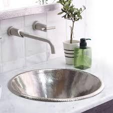 Hammered Copper Bathroom Sink Cazo Round Coppper Bathroom Sink Native Trails