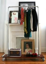 loft style diy industrial chic garment rack ehow home ehow