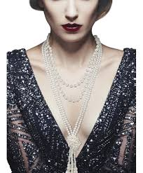 pearl necklace women images Pearls necklace strand vintage long knot 1920s gatsby party jpg