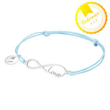 infinity sign bracelet infinity sign love twine light aquamarine silver my way