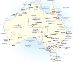 australia map of cities