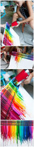 How To Get Crayon Off Walls by How To Make Colorful Melting Crayon Canvas Art Diy Tag Diytag