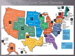 federal circuit court map federal courts