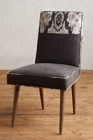 Dining Armchairs Upholstered Navy And White Upholstered Dining Chair