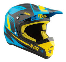 blue motocross helmet answer snx 2 helmet revzilla