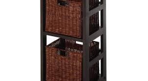 Storage Bookshelves With Baskets by 43 Bookcases And Shelves Baskets Ladder With Wicker Baskets 39