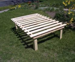 build a shop cheap easy low waste platform bed plans queen size platform
