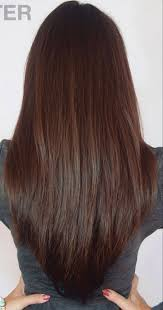 back views of long layer styles for medium length hair long layered v cut haircuts back view the v cut hairstyle