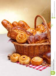 bakery basket sweet bakery products in basket stock photo image of products