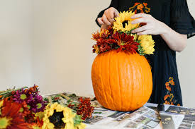 how to make pumpkin flower arrangements for fall the style scribe
