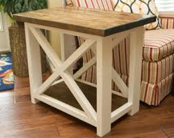 Rustic Side Table Diy Small X End Table Washingtonlincoln Com Construction