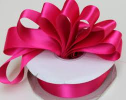 satin ribbon magenta satin ribbon etsy