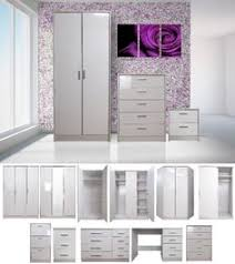 White Bedroom Furniture Set by High Gloss Cosmopolitan Bedroom Furniture Range In Classic Cream