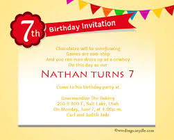 words for birthday invitation 7th birthday party invitation wording wordings and messages