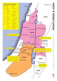 Map Israel Micah Map Visual Unit