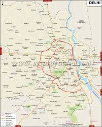 Where Is India On The Map by Delhi Map City Information And Facts Travel Guide