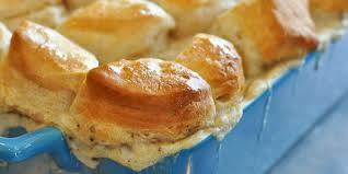 biscuits and gravy join forces to make an incredible casserole