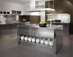 Stainless Kitchen Island Stainless Steel Kitchens For Modern House Baytownkitchen