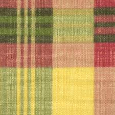 Plaid Home Decor Fabric 1 Yard Yellow Green Red Plaid Print Home Decor Or Upholstery