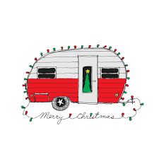 retro christmas christmas camper retro christmas card set of 8