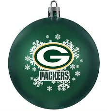 bay packers shatterproof ornament