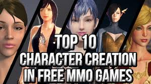game where you design your own home top 10 character creation in free mmo games youtube